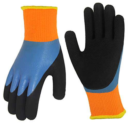 Cold Weather Work Gloves 2 Pairs, Polar Fleece Liner Thermal Gloves,...