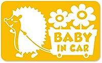 imoninn BABY in car ステッカー 【マグネットタイプ】 No.62 花屋のハリさん (黄色)