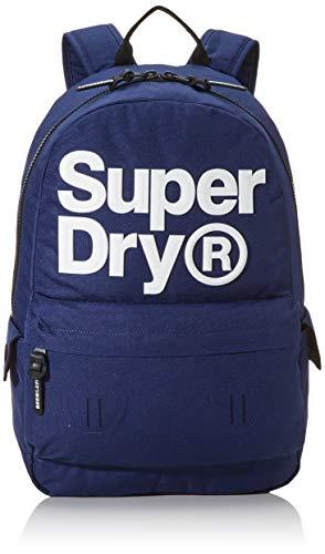 Superdry Herren Logo Montana Rucksack Blau (Downhill Blue)