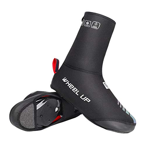 Huaxingda Chaussures De Protection pour Moto Vélo, Cyclisme Couvre-Chaussures Chaud Surchaussures Vélo De Route Vélo VTT Chaussures d'hiver Couverture