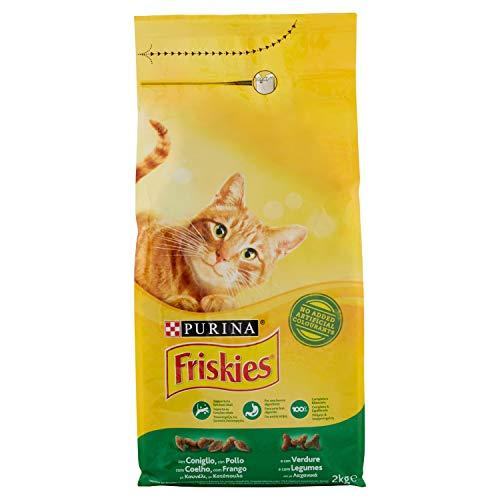 Friskies - Pienso para Gatos con Conejo, Pollo y Verduras añadidas, 2 kg ⭐