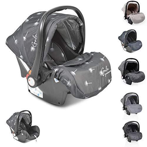 Moni silla de coche bebés Gala Premium, grupo 0+ funda de pie, cojín de asiento, color:negro
