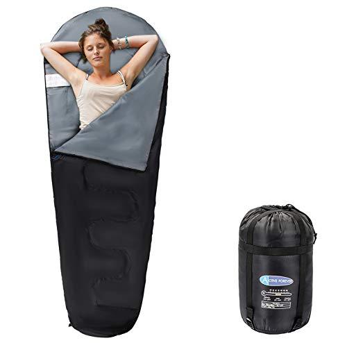 Active Forever Outdoor-Schlafsack, Umschlag/Mama Schlafsäcke kompakte wasserdichte Design, leicht - einschließlich kostenlose Kompressor Tasche (schwarz)