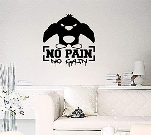 ZNuQP Sol en PVC Salle de Gym à Domicile PVC mur Dessin animé Muscle Fitness Sticker Mural 60x57cm