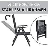 ArtLife Aluminium Gartengarnitur Milano | Gartenmöbel Set mit Tisch und 8 Stühlen - 5
