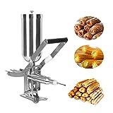 Máquina para hacer churros comerciales, llenadora de churros manual 4.5L, llenadora de rosquillas de acero inoxidable,6mm herramienta de llenado de mermelada de chocolate,para pastelería,restaurante