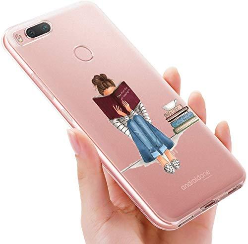 Funda XiaoMi Mi A2 Lite [Transparente] [Resistente a los Arañazos] [1,0mm Ultra Delgado] Cover Piel de Gel Suave TPU Suave Cubierta Protectora Suave Delgada Protective (Niña)