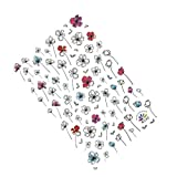 Lidahaotin Une Feuille de Fleurs en Dentelle Nail Wrap Nail Dentelle Mesh Nail Sticker Cartoon Nail Art Nail Sticker Animal Wraps Autocollants Bricolage 1