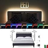 BedLed - Kit de tira LED RGB de 60 ledes/metro para cabecero de cama de una...