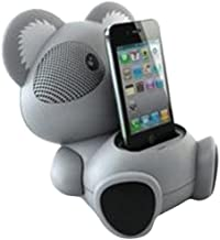 Impecca AS602 6-Watt Universal Portable Stereo Speaker with Aux-Input and 30-Pin Dock, Koala Character photo