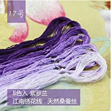 Love^Store - Silk Embroidery Thread - Pieces Customizable Thread-Silk Embroidery Thread/Embroidery Spiraea/Silk line/Hand-Embroidered Threads - - by Love^Store - 1 PCs