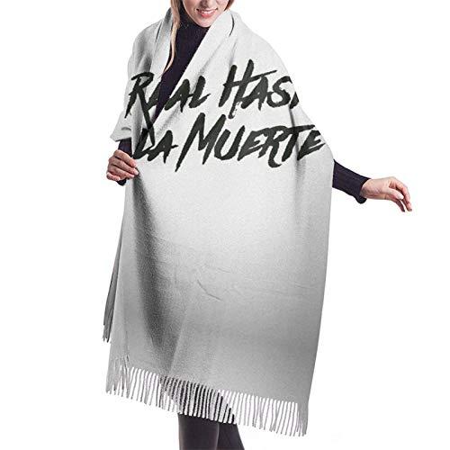Yuanmeiju Damenmode Langer Schal Real Hasta La Muerte Ladies Cashmere Fringed Scarf, Super Long Shawl Winter Thick...