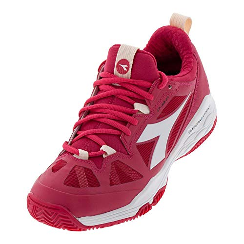 Diadora Womens Speed Blushield Fly 2 Clay Tennis Casual Shoes, Pink, 10