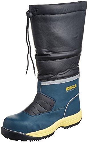 [ミドリ安全] 安全作業靴 JSAA認定 雪上用 簡易防水 スノーシューズ ブーツタイプ プロスニーカー MPS140 フード メンズ ネイビー 26.0(26cm)
