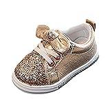 YanHoo Zapatos para niños Bebé Fashion Star Sneaker Zapatos Ligeros para niños niños y niñas Zapatos radiantes de Colores Flash LED Zapatos para niños Tabla de luz Zapatos Ligeros (Oro1, 23)