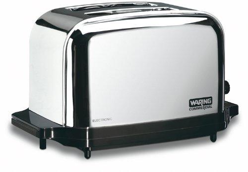 Waring Commercial WCT702 2-Slice Commercial Light Duty Pop-Up Toaster, 120V, 5-15 Phase Plug
