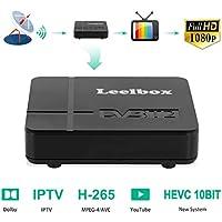 Decodificador TDT Terrestre - Leelbox Digital TV HD Euroconector Sintonizador Receptor DVB-K2 10 bits Tuner Full HD / HD Ready / 1080P / H.265 / MPEG / IPTV / Youtube / 512M / Dolby / Multimedia