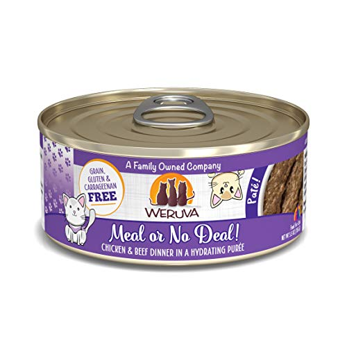 Weruva Classic Cat Paté, Meal or No Deal! with Chicken & Beef, 5.5oz Can (Pack of 8)