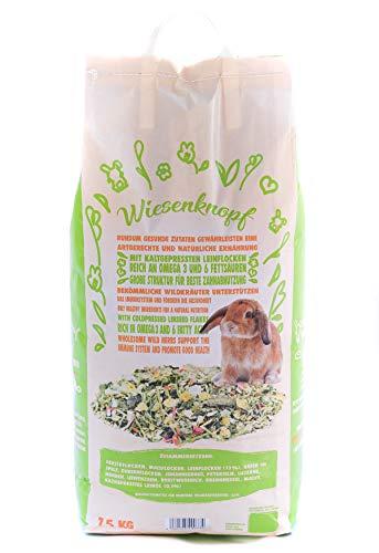 15kg Kaninchenfutter Wiesenknopf Strukturfutter mit Kräuter - 6