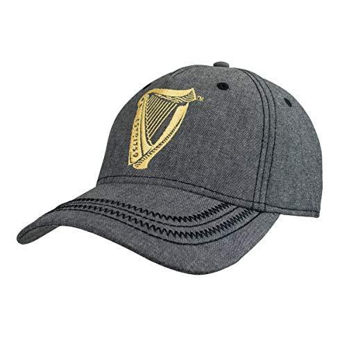 Guinness Harp Logo Grey Adjustable Six-Panel Baseball Cap