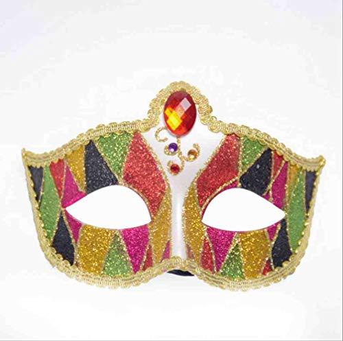 DSNGZ Halloween Gold Puder Halbgesichtsball Party Maske Augenmaske Bar Sexy Maske 111,111