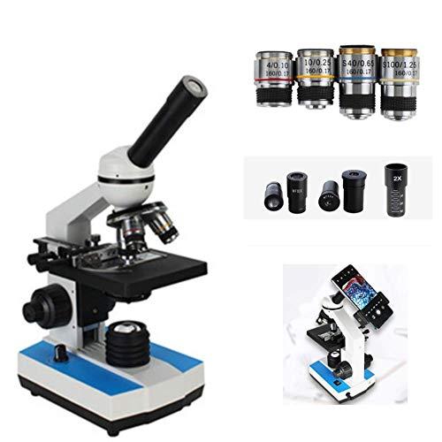 Microscopio óptico 5000X Microscopio biológico HD Lente gran angular Objetivo acromático Investigación en ciencias de la familia