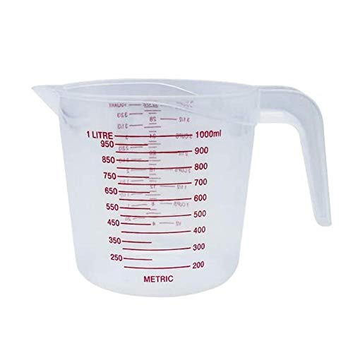 Kunststoff-Messbecher, für Zuhause, Küche, Handarbeit, Kochen, Backwerkzeug, transparente Küchenwaage, Messbecher aus Kunststoff (250/500/1000 ml) 500 ml