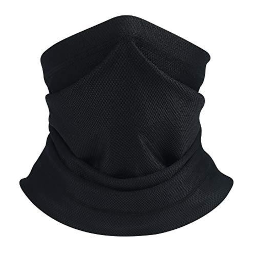 YWCXMY-LDL Multi-diversión Mascarilla Máscara de Sun del Cuello Polaina pasamontañas Pesca Bufanda Headwear Cara máscara UV Ejecución de la máscara de esquí de Invierno Diadema (Color : Black)