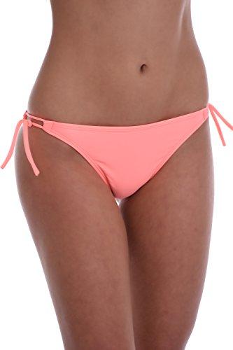 TIARA GALIANO Sexy Damen Bikinihose Tanga Dünn Tie Side - Made in EU Lady Bademode 101 - Pink - Large