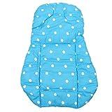 Haude Funda de algodon almohada de asiento de grueso de cochecito infantil de azul