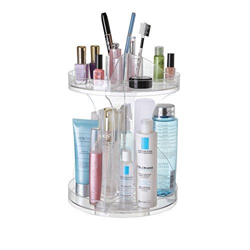 Glenmore Organizador Giratorio de Maquillaje Cosméticos de 360 Grados de Rotación Gran Capacidad Transparentes B2350