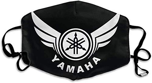 LANCHUN Erwachsene Yamaha Logo wiederverwendbar & waschbar Anti-Staub-Mundschutz Bandana für Sport & Outdoor