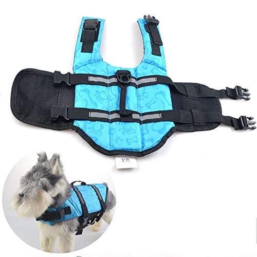 Chaleco Salvavidas para Mascotas Traje De Baño para Perros Ropa Chaleco De Natación para Cachorros Moda Traje De Baño Transpirable Ajustable Chaqueta para Perros (M),S