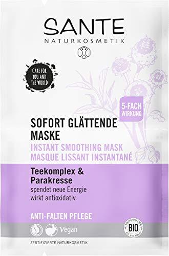 SANTE Naturkosmetik Sofort glättende Anti Aging Maske mit Parakresse,5x8g