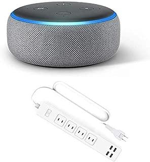 Echo Dot 第3世代 - スマートスピーカー with Alexa、ヘザーグレー + Meross WiFi スマート電源タップ 4個口+4USB