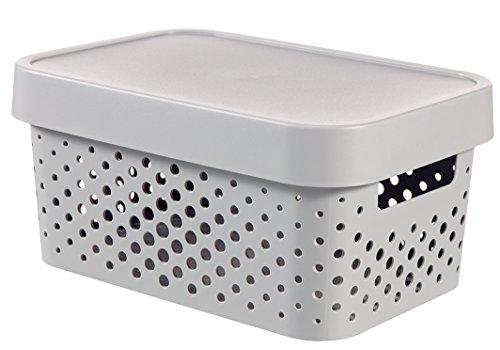 CURVER Infinity 04760-099-00 - Caja de almacenaje con Tapa, plástico, 26,8 x 18,6 x 12,4 cm, 4,5 l, Color Blanco