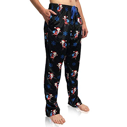 Image of Fun Snowflake and Santa Christmas Pajama Pants