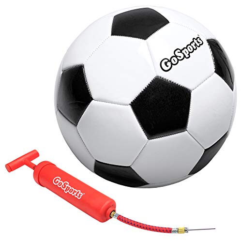 GoSports Classic Soccerball - Size 4 - with Premium Pump