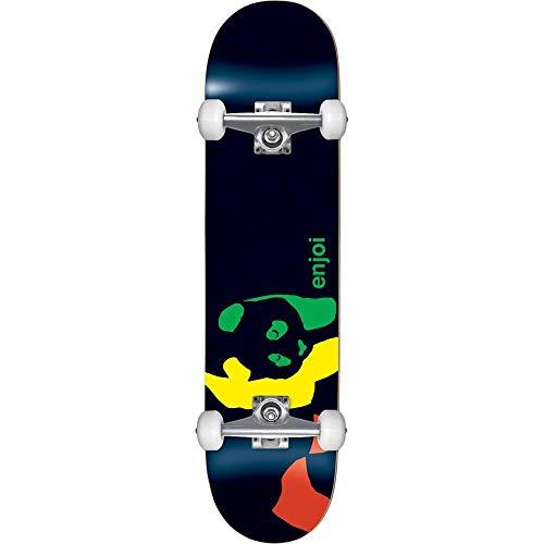 Enjoi Rasta Panda Factory - Skateboard completo, 17,8 cm, colore: Nero