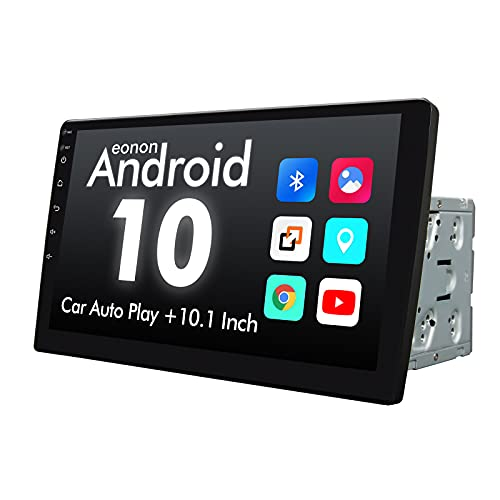 2021 Double Din Car Stereo, Android 10 Radio with Bluetooth 4.0, Eonon 10.1 Inch Car Radio with IPS Screen Car Stereo Built-in DSP, Support WiFi/Fast Boot/Backup Camera(NO DVD/CD)-GA2187X