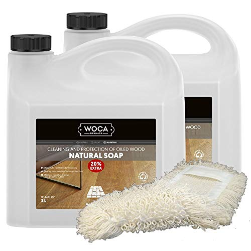 Woca Holzbodenseife Natur Aktion - 6 Liter Holzbodenseife inkl. Wischmopp
