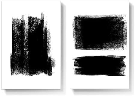 Gronda Black and White Canvas Wall Art Living Room Decor Minimalist Artwork Framed Abstract product image