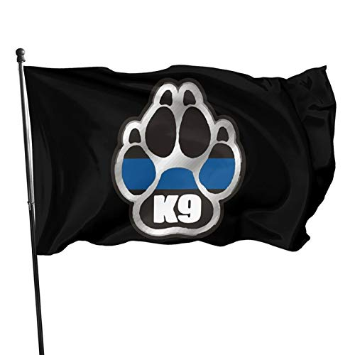 Police K9 Flag 3x5 Feet Strong, Durable, High-End National Flag Without Flagpole, Outdoor Decoration