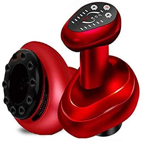 Elektrisches Rückenmassagegerät - Rasieren, Formen, Ping und Rasierinstrument, Elektrisches Massagegerät, Handmassagegerät, Vakuumsauger und Entgiftung Rot