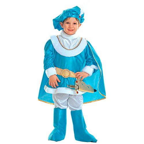 NET TOYS Blauer Prinz Kostüm König Kinderkostüm 116 cm Edles Prinzenkostüm Kleiner Märchenprinz Jungenkostüm Prince Kind Faschingskostüm Edelmann Märchenkostüm Junge