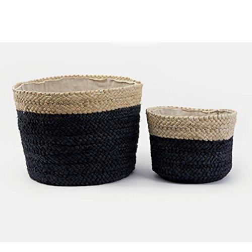Xuan - Worth Another Panier Noir de paniers de Paille de vêtements Sales de Panier de vêtements de Panier de Finition de Casse-croûte (Taille : Gros)