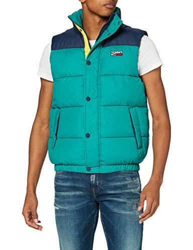 Tommy Jeans Herren TJM Corp Puffa Vest Jacke, Midwest Green/Multi, XL