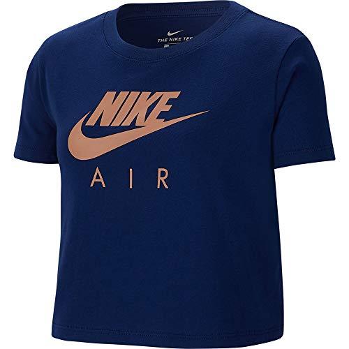 Nike NS Clubair Crop Maglietta, Unisex Bambini, Blue Void/Rose Gold, L