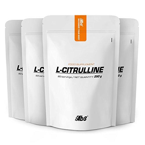 L-CITRULLINA IN POLVERE | PACK 3+1 GRATIS | 332 razioni / 1 kg | Vasodilatatore, recupero dopo l'esercizio fisico, rendimento | Fabbricato in Francia