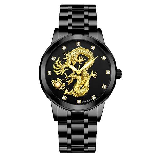 Relógio masculino AxiBa de aço inoxidável, quartzo, casual, à prova d'água Multicor